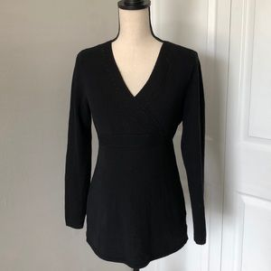 TWO HEARTS BLACK MATERNITY TOP